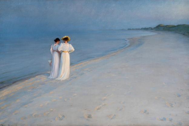 Peder Severin Krøyer. Après-midi d'été sur la plage sud de Skagen (1893, Skagen, Skagens Kunsmuseer)