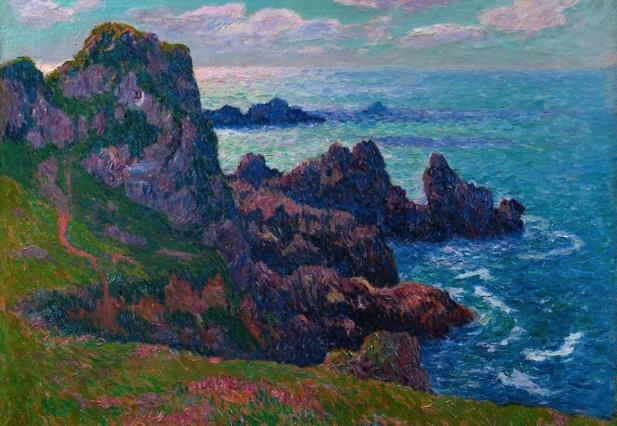 Henry Moret - Temps calme à Pern, Ouessant 1892. Collection particulière.